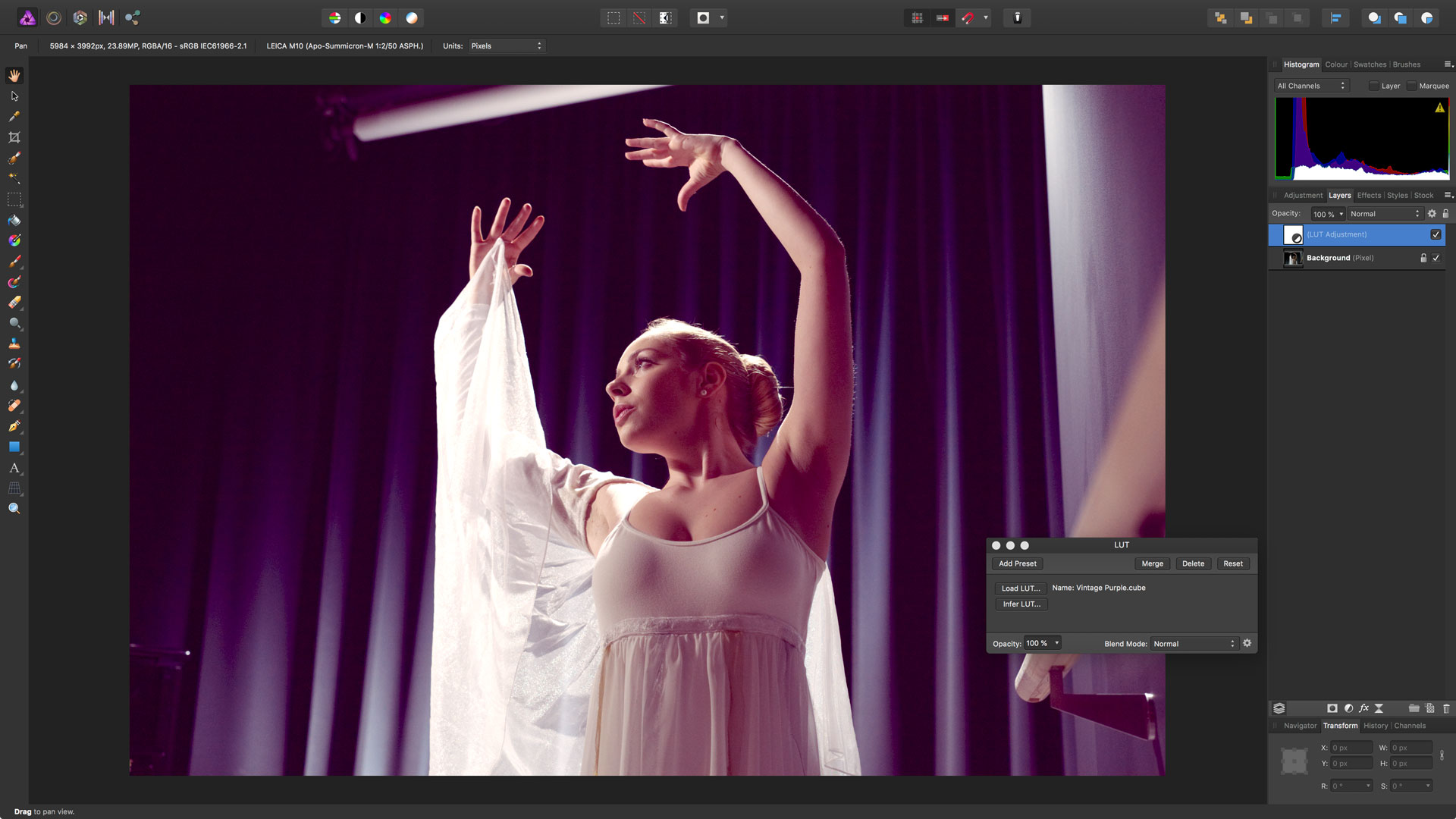 How to give your images a whole new look with Affinity Photo's powerful LUT adjustments