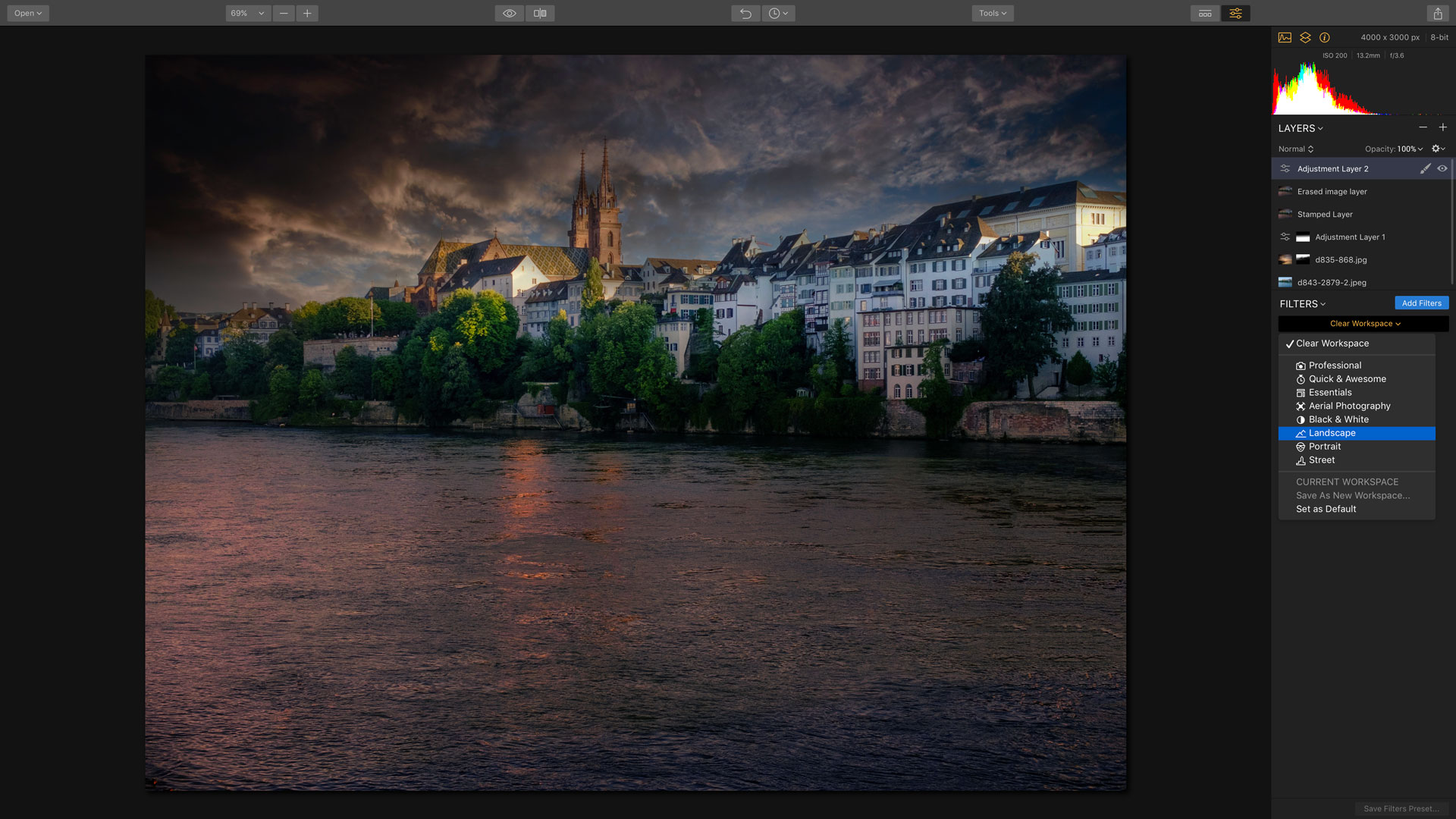 Camera Jabber | How to use Luminar's workspaces, filters and layers